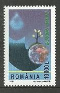 ROMANIA 2001 EUROPA WATER MINERALS OMNIBUS FLOWER TREE SET MNH