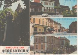 VENDO N.1.CARTOLINA DI ACQUANEGRA(CR)SALUTI CON VEDUTE MULTIPLE FORMATO GRANDE COLORE VIAGGIATA NEL 1976 - Cremona