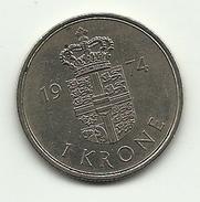 1974 - Danimarca 1 Krone, - Danimarca