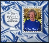 (1743) Gibraltar - Block Aus 2001, Queen Elizabeth II, 75th Geburtstag. Postfrisch (von Der Versandstelle) - Gibraltar