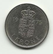 1975 - Danimarca 1 Krone, - Danimarca