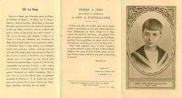 Religions - Christianisme - Guy De Fontgalland 1913-1925 - Jésus - Marie - Le Pape - Dépliant - état - Non Classés