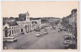 Namur Cpa  La Gare  Animé Trams Bus Auto's  Anno 1946 - Namur