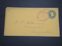 ETATS UNIS - Entier Postal De 1886 Pour Le Venezuela, Oblitération De Ligne De Bateau , Pas Commun - A Voir - L 6094