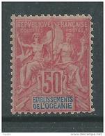 Océanie  N° 11  X  Types Groupe 50c. Rose Trace De Charnière Sinon  TB