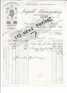 13 - Bouches-du-rhône - SALON - Facture BRAUNSCHVIG - Huilerie-savonnerie - 1909 - REF 55A - France