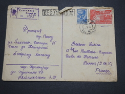 RUSSIE - Enveloppe En Recommandée Pour La France En 1948 , Affranchissement Plaisant - A Voir - L 6105 - 1923-1991 USSR
