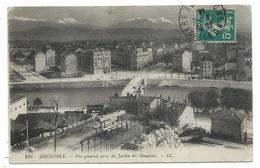 CPA - GRENOBLE , VUE GENERALE PRISE DU JARDIN DES DAUPHINS - Isère 38 - Circulé 1914 - Grenoble