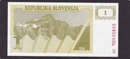 SLOVENIA  1 TOLARJEV    1990  FDS - Slovénie