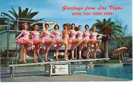 Las Vegas Texas Dancing Girls Dansgroep Flamingo Hotel - Las Vegas