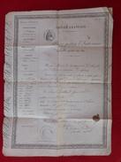 PASSEPORT EMPIRE FRANCAIS SAINT JEAN D HERANS ROLLAND JEAN FREDERIC 1857 - Documents Historiques