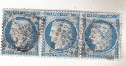 N°60 YT Type 1 Bande De 3 Panneau D3. 74,75,76. TTB état. - 1871-1875 Cérès