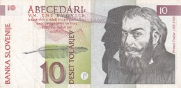 SLOVENIA  10 TOLARJEV    1992  BANCONOTA CIRCOLATA - Slovénie