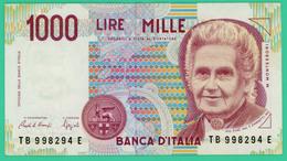 1000 Lires - Italie - N° TB 998294E -  Sup - 1990 - - [ 2] 1946-… : République