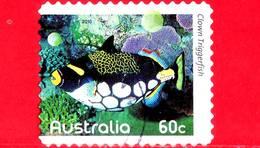 AUSTRALIA - Usato - 2010 - Pesci Della Barriera Corallina - Clown Triggerfish (Balistoides Conspicillum) - 60 - 2010-... Elizabeth II