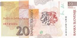 SLOVENIA  20 TOLARJEV    1992   FDS - Slovénie