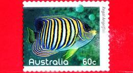 AUSTRALIA - Usato - 2010 - Pesci Della Barriera Corallina - Regal Angelfish (Pygoplites Diacanthus) - 60 - 2010-... Elizabeth II