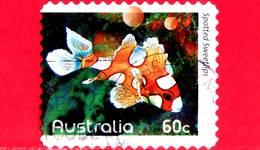 AUSTRALIA - Usato - 2010 - Pesci Della Barriera Corallina - Spotted Sweetlips (Plectorhinchus Chaetodonoides) - 60 - 2010-... Elizabeth II