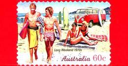 AUSTRALIA - Usato - 2010 - Weekend Lungo, Anni '70 - Vacanze - Autoadesivo - 60 - 2010-... Elizabeth II