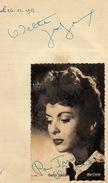 Autographe + Photo Actrice Odette Joyeux Pour Irma 1952 - Autographs