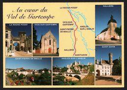 Carte Géographique Au Cœur Du Val De Gartempe - Nalliers - Angles Sur L'Anglin - St Pierre De Maillé - YVON - Landkaarten
