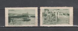 LA CIOTAT    2 Vignettes Touristiques . 1930 Env. Provenance De Carnet - Cinderellas