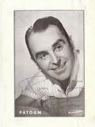 Autographe PATOUM 1952 - Autographs