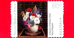 AUSTRALIA - Usato - 2011 - Galleria Nazionale Vittoria - Dipinto - Fiori - Bunch Of Flowers - 60 - 2010-... Elizabeth II