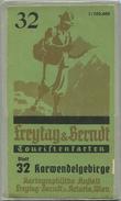 Karwendelgebirge 1952 - Touristenkarten - Blatt 32 Kartographische Anstalt Freytag-Berndt U. Artaria Wien - 64cm X 70cm - Landkarten