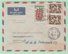 C9  Madagascar  Ankazoabo-sud 22.12.1958 TP=  Café + Girofle Verso= Mission Catholique - Madagascar (1889-1960)