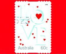AUSTRALIA - Usato - 2012 - Momenti Preziosi - Amore - Cuoricini - Love Hearts - 60 - 2010-... Elizabeth II