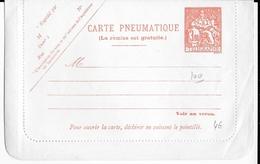 PNEUMATIQUE - TYPE CHAPLAIN - 1971 - CARTE-LETTRE ENTIER NEUVE - Pneumatiques