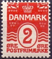 DENEMARKEN 1907-12 2öre Golflijn WM Kroon Perf 12¾ PF-MNH