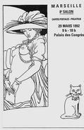 CPM Salon De Cartes Postales érotisme Nu Féminin Femme Nue Marseille 1992 Non Circulé - Bourses & Salons De Collections