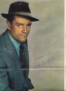 Autographe Sur Poster D'Eddie Canstantine - Autographes