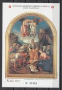 Sovrano Militare Ordine Di Malta ( SMOM ) Art Paintings Pittura Malerei 2000 BF 63 MNH - Other