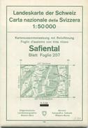 Landeskarte Der Schweiz 1:50 000 - Safiental Blatt 257 - Eidgenössische Landestopographie Bern 1960 - Mit Relieftönung - Landkarten