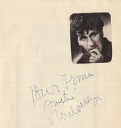 Autographe Mouloudji 1952 - Autographs
