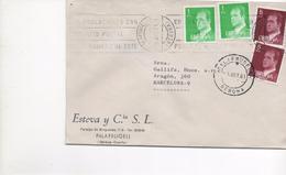 3050     Carta  Palafrugell 1981, Doble Fechador, , Girona, - 1981-90 Covers