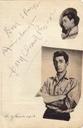 Autographe Jean Claude Pascal 1953 - Autographs