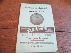 Fascicule/Sports/ Volley-Ball/Règlements Officiels/Quincaillerie PA GOUIN Ltée/vers 1930-1940          SPO107 - Boeken, Tijdschriften, Stripverhalen
