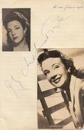 Autographe Carte Photo De Micheline Prelle - Autographs