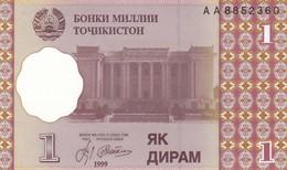 TAGIKISTAN  1 DIRAM   1999   FDS - Tadschikistan