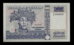 """100 Rupees ISLANDS OF CEYLON"", Entwurf, Beids. Druck, RRRR, UNC, Ca. 137 X 82 Mm, Essay, Trial, UV, Wm, Serial No. - Sri Lanka"