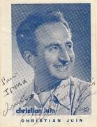 Autographe De Christian Juin - Autographs
