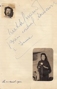 Autographe De Jacques Mathieu - Autographs