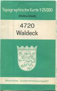 4720 Waldeck 1963 - Meßtischblatt Topographische Karte 1:25'000 Hessisches Landesvermessungsamt - Topographische Karten