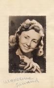 Autographe De Madeleine Renaud - Autographs