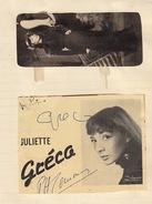 Autographe De Juliette Gréco - Autographs