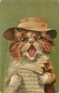CHATS - CAT - HUMANISE - MAURICE BOULANGER -ILLUSTRATEUR - éditeur; K.F. - N° 586. - Chats